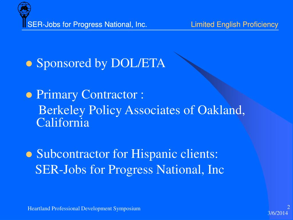 SER-Jobs for Progress National, Inc.
