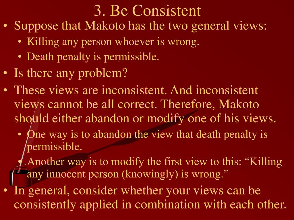 3. Be Consistent