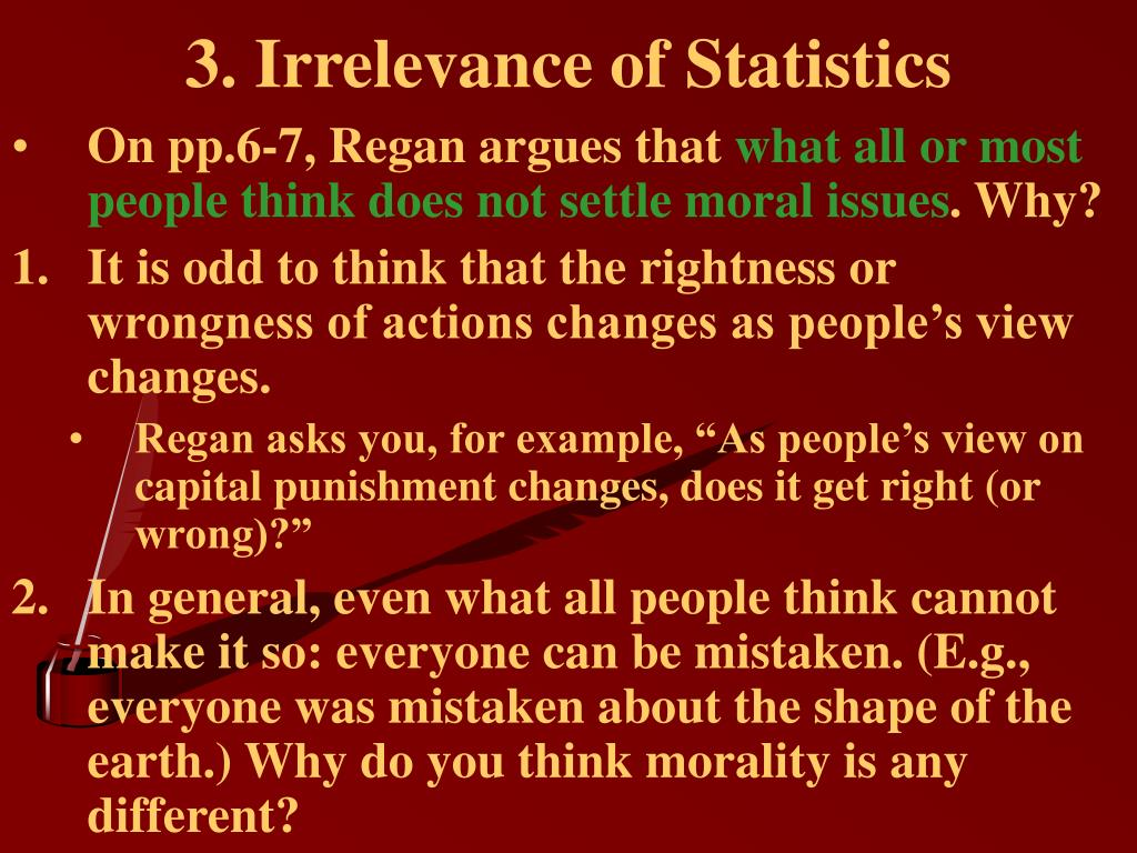 3. Irrelevance of Statistics