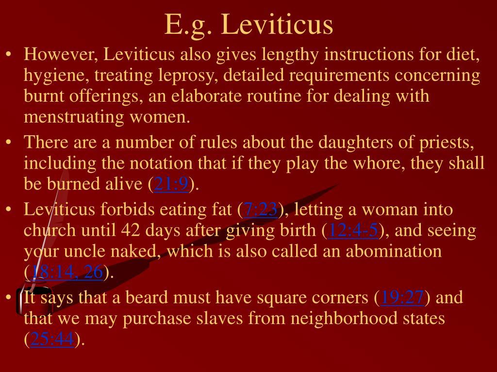 E.g. Leviticus