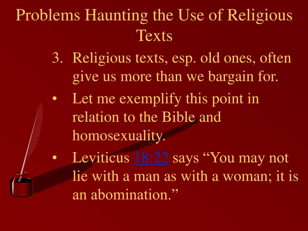 Problems Haunting the Use of Religious Texts