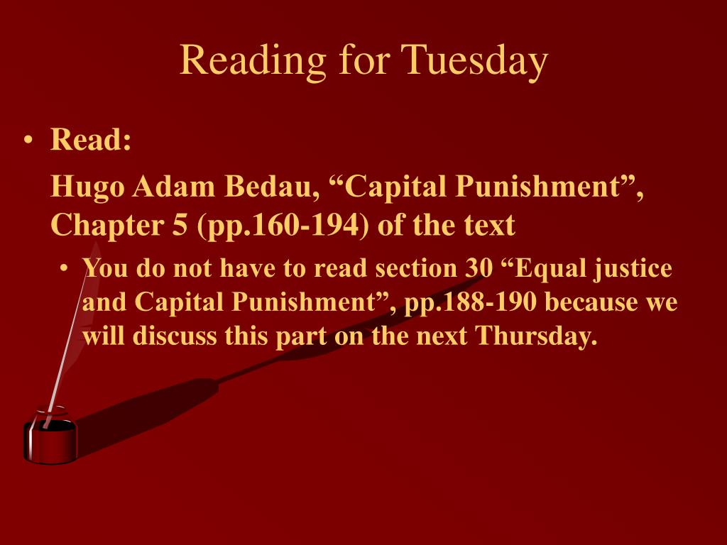 Reading for Tuesday