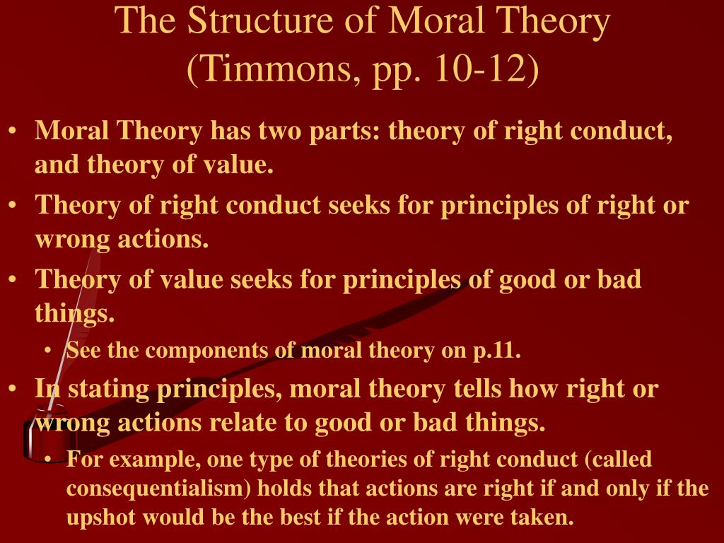 The Structure of Moral Theory (Timmons, pp. 10-12)