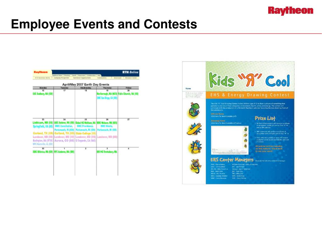 Employee Events and Contests