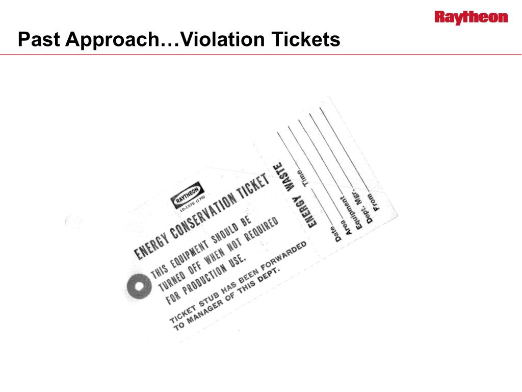 Past Approach…Violation Tickets