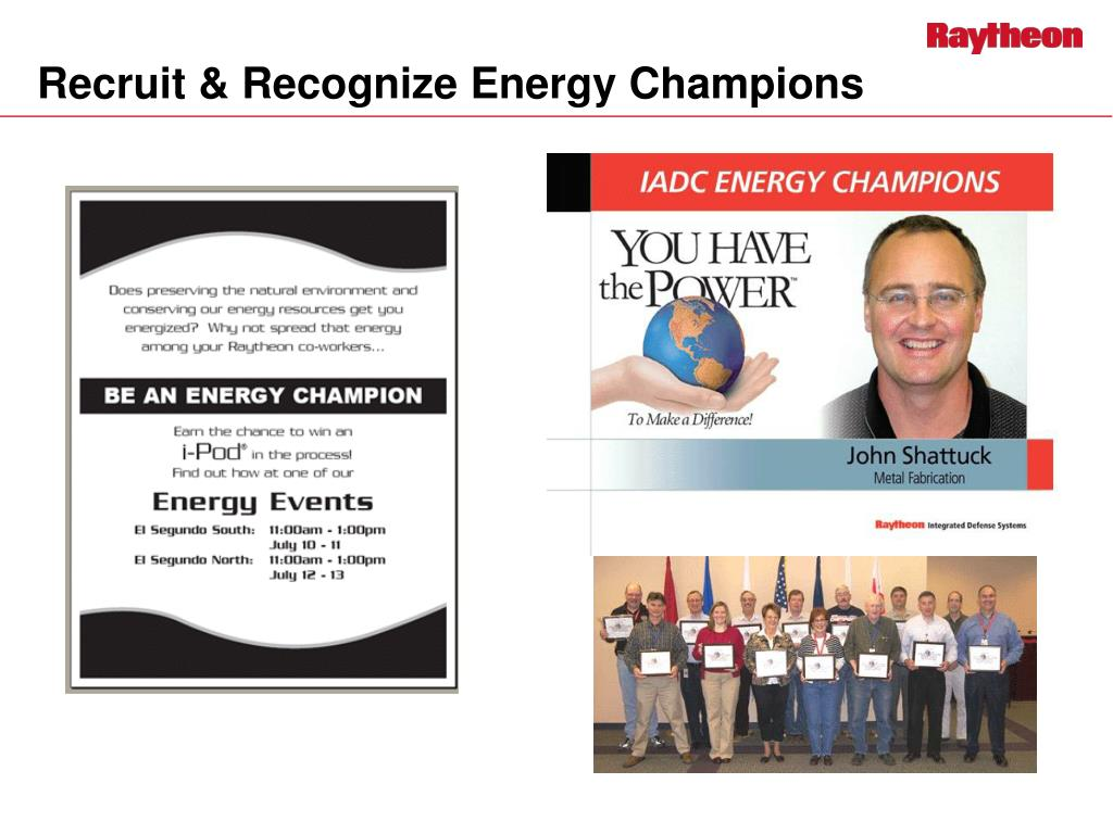 Recruit & Recognize Energy Champions