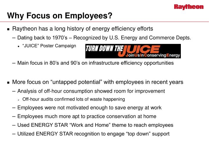 Why focus on employees