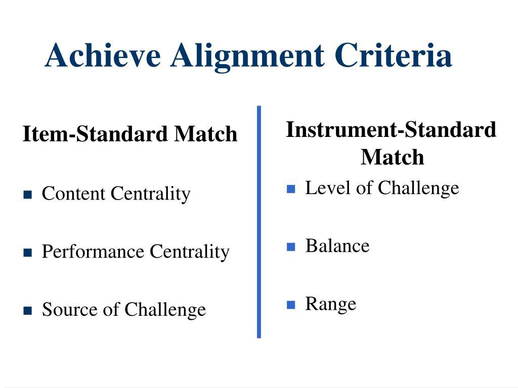 Item-Standard Match