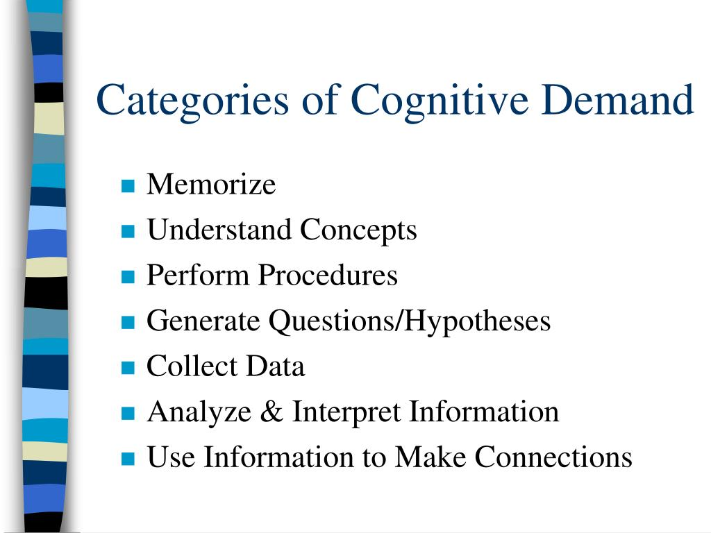 Categories of Cognitive Demand