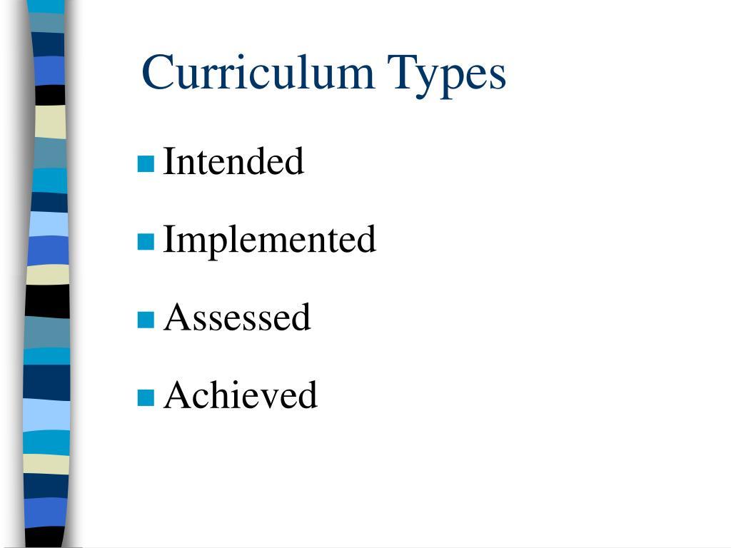 Curriculum Types