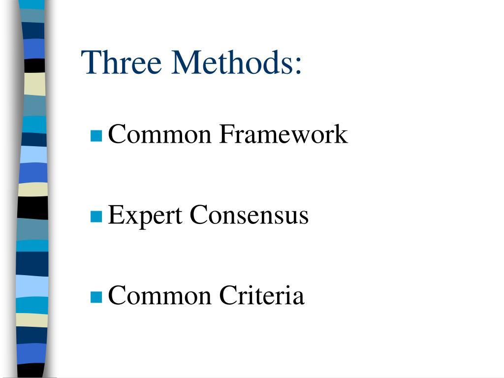 Three Methods: