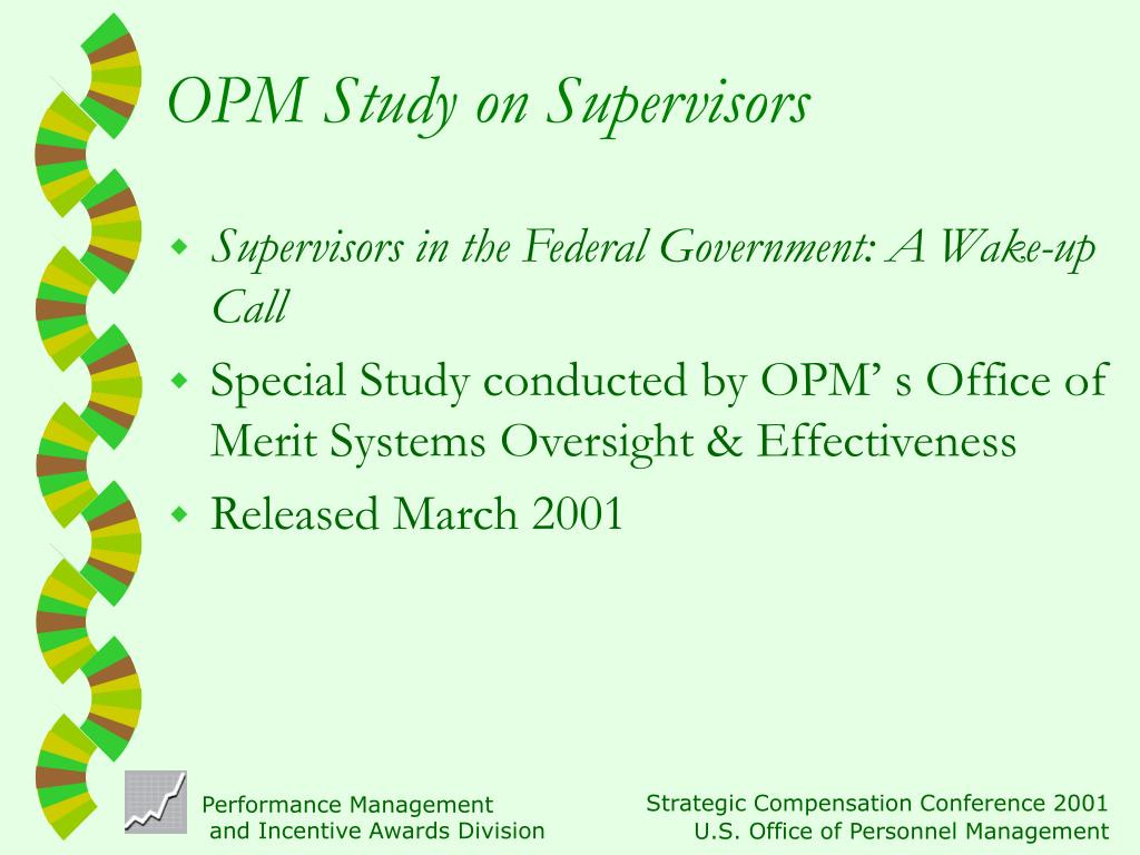 OPM Study on Supervisors