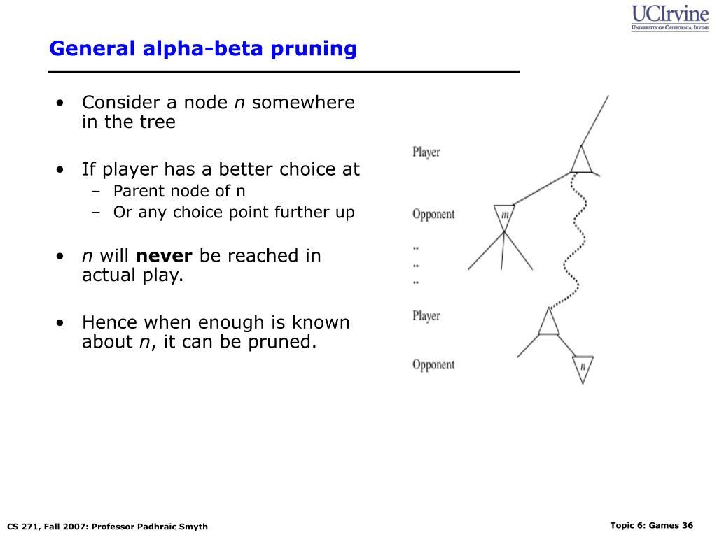 General alpha-beta pruning