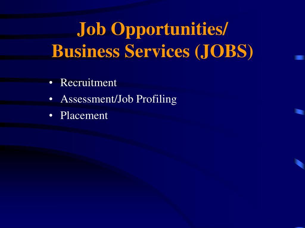 Job Opportunities/