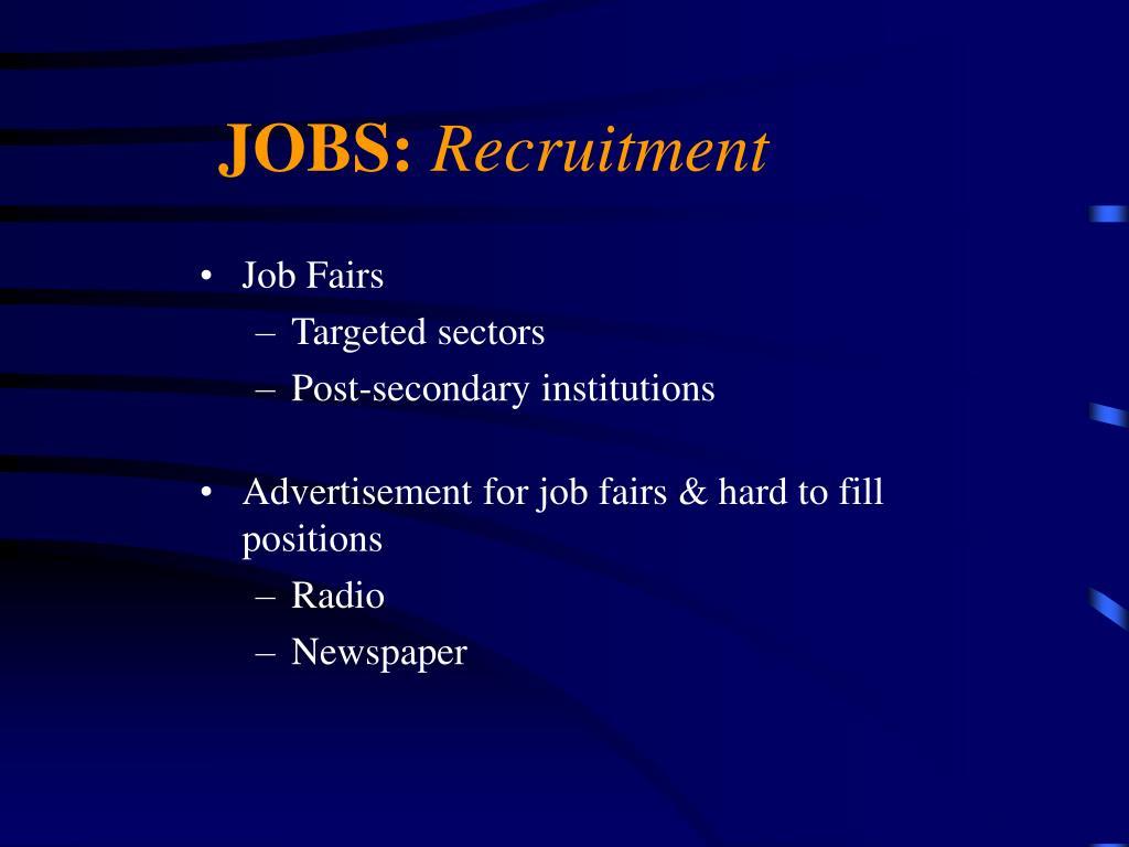 JOBS: