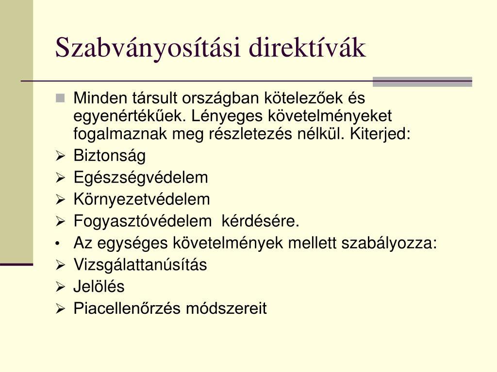 Szabványosítási direktívák