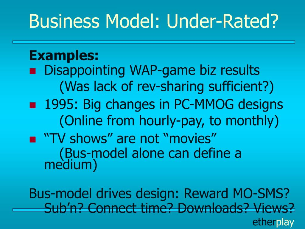 Business Model: Under-Rated?