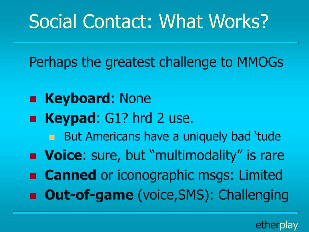 Social Contact: What Works?