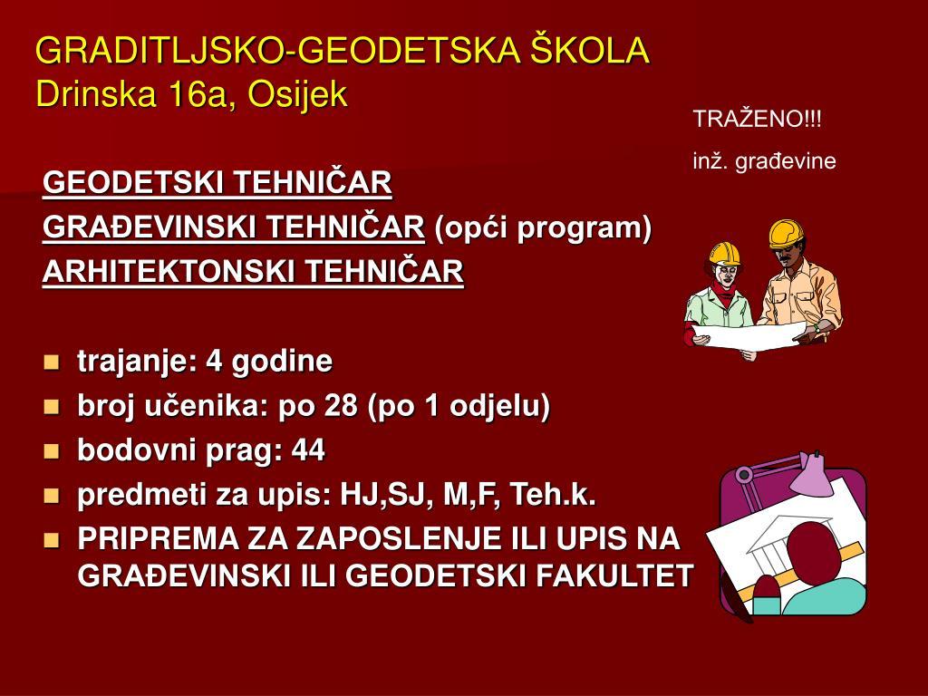 GRADITLJSKO-GEODETSKA ŠKOLA