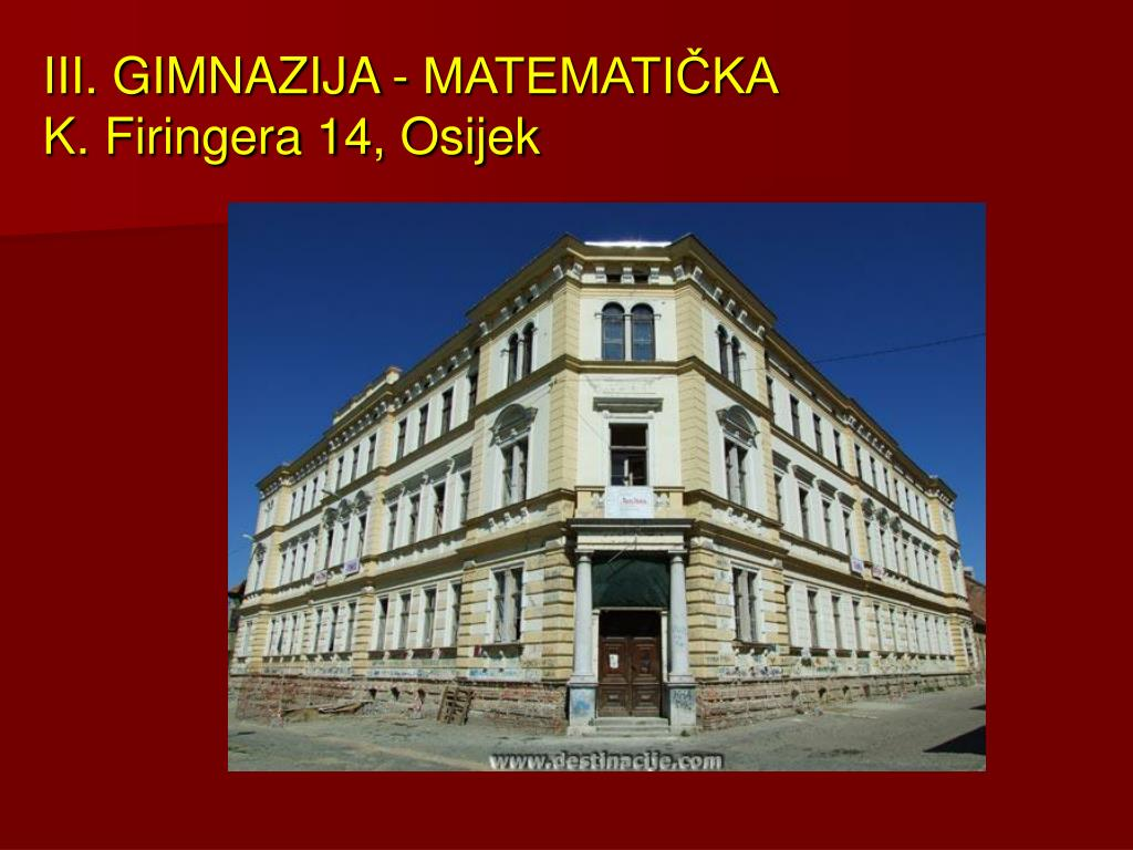 III. GIMNAZIJA - MATEMATIČKA