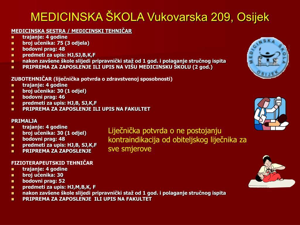 MEDICINSKA ŠKOLA Vukovarska 209, Osijek