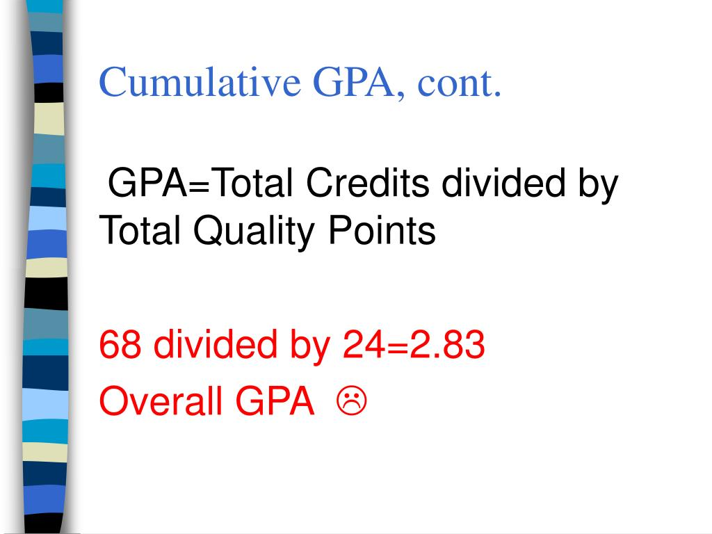 Cumulative GPA, cont.
