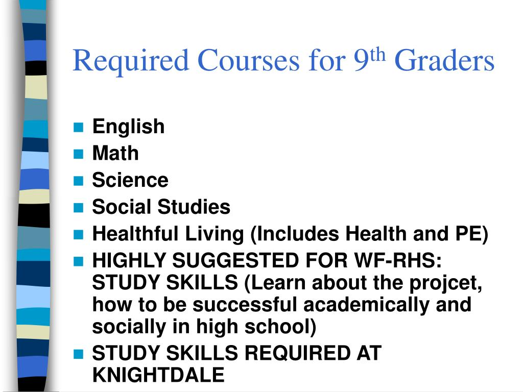 Required Courses for 9