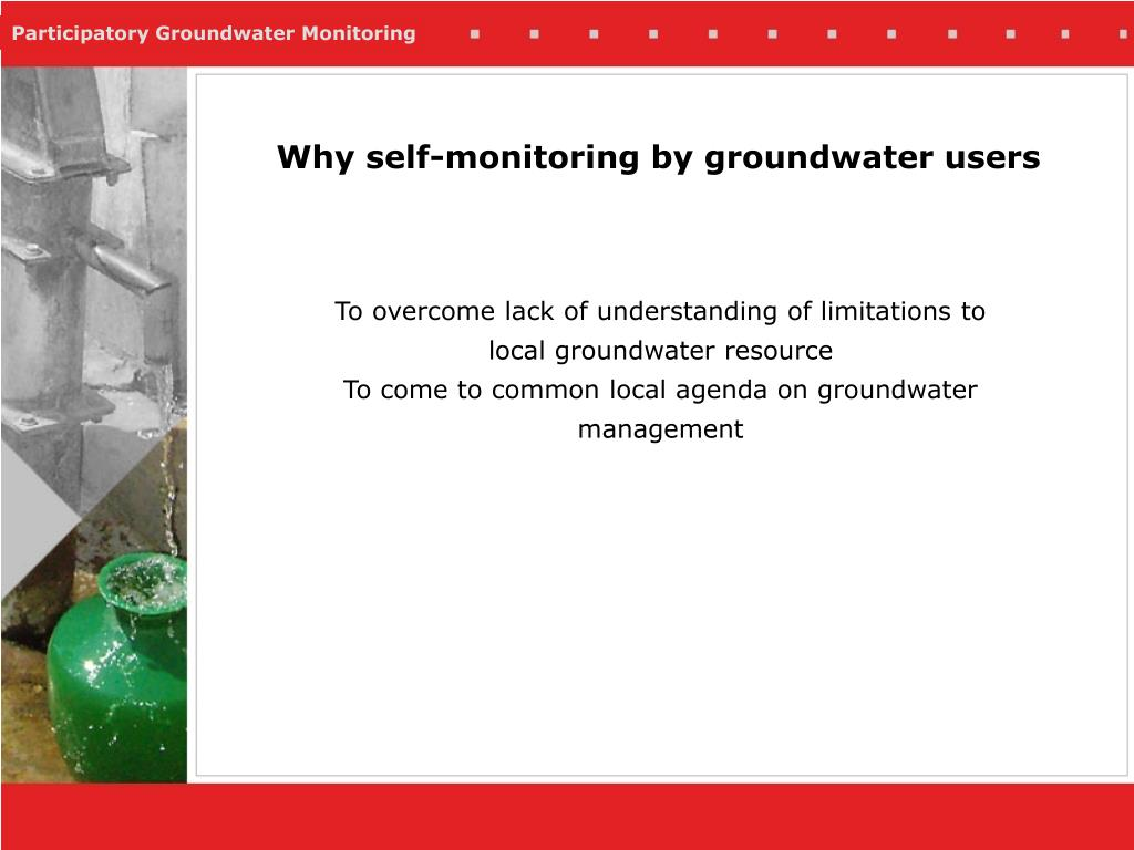 Why self-monitoring by groundwater users