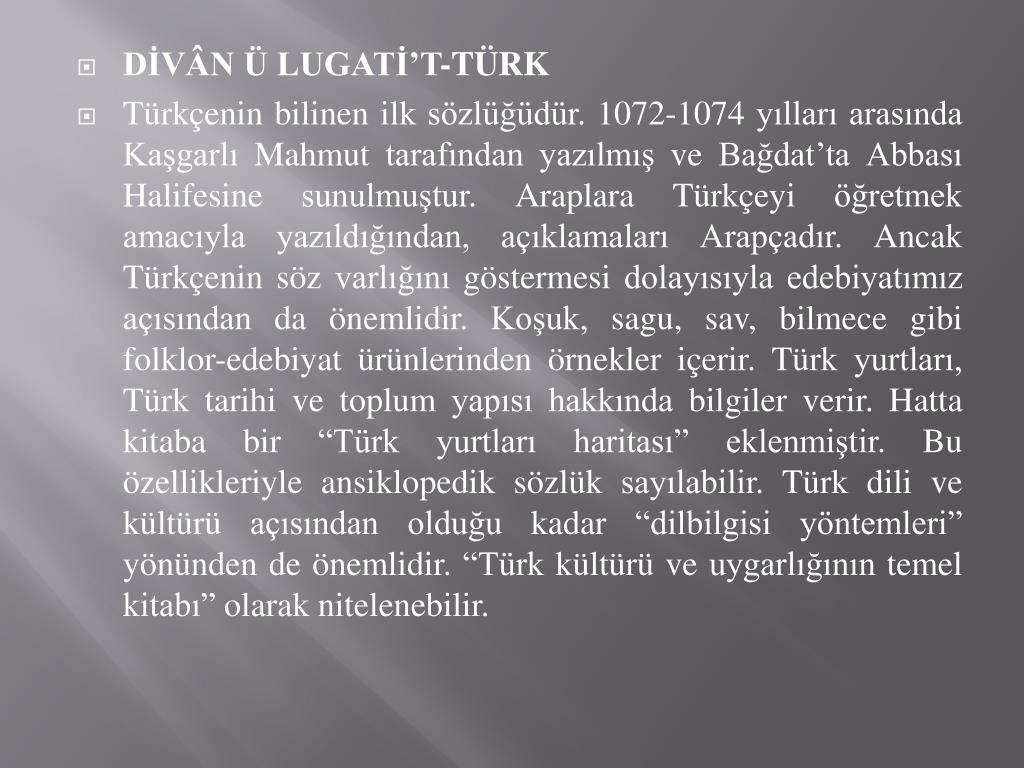 DİVÂN Ü LUGATİ'T-TÜRK