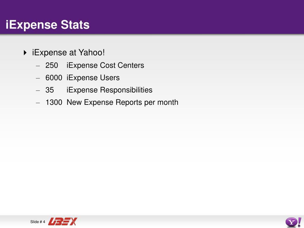 iExpense Stats