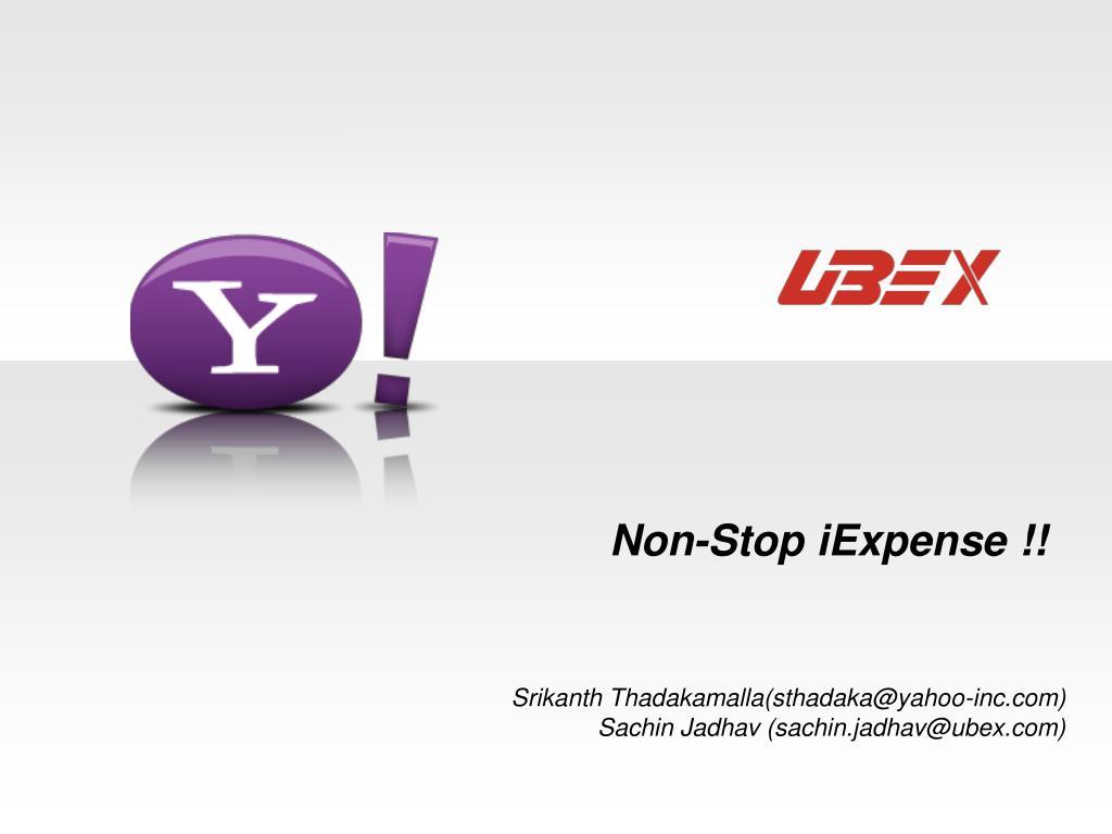Non-Stop iExpense !!