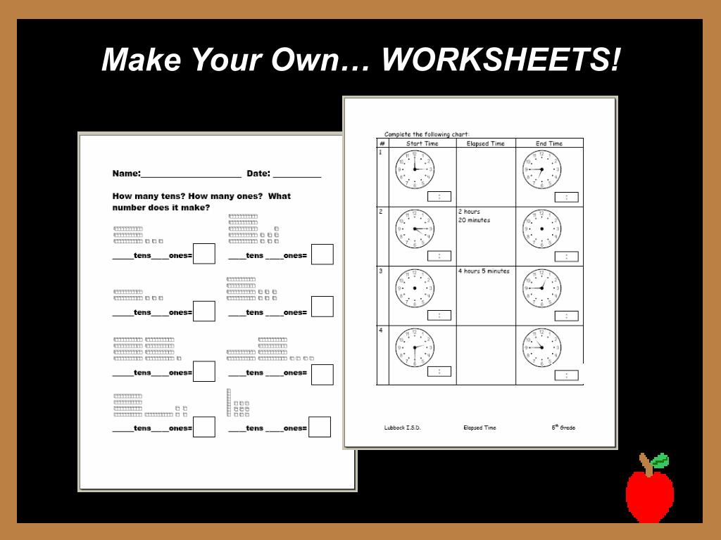 Make Your Own… WORKSHEETS!