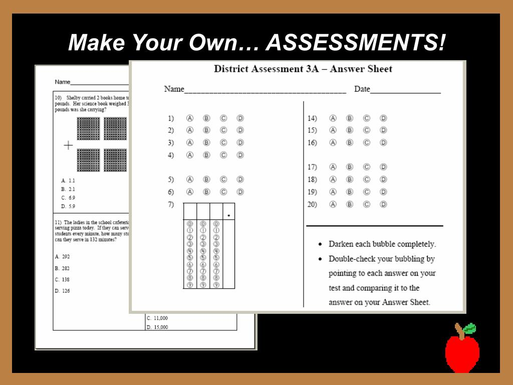 Make Your Own… ASSESSMENTS!