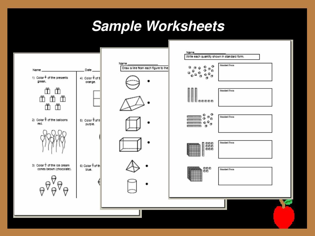 Sample Worksheets