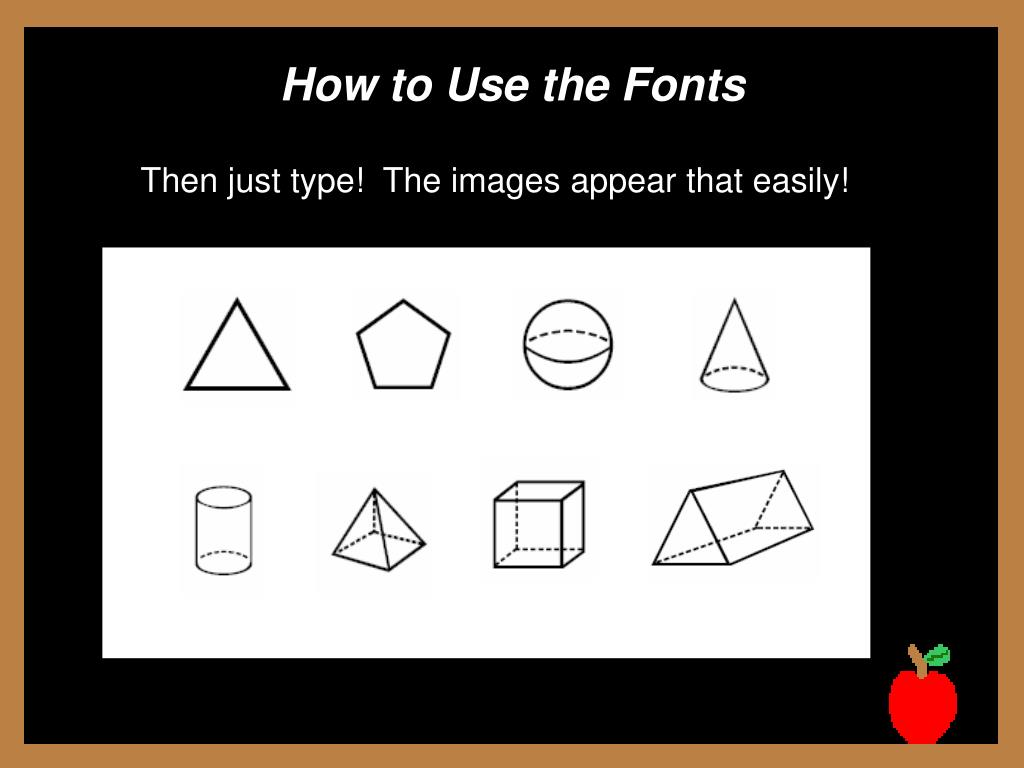 How to Use the Fonts