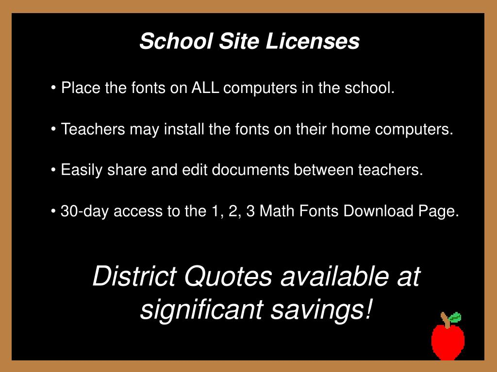 School Site Licenses