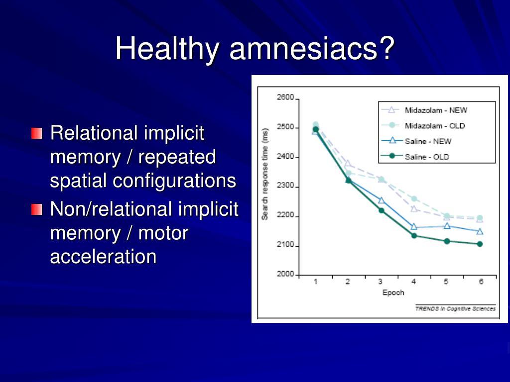 Healthy amnesiacs?