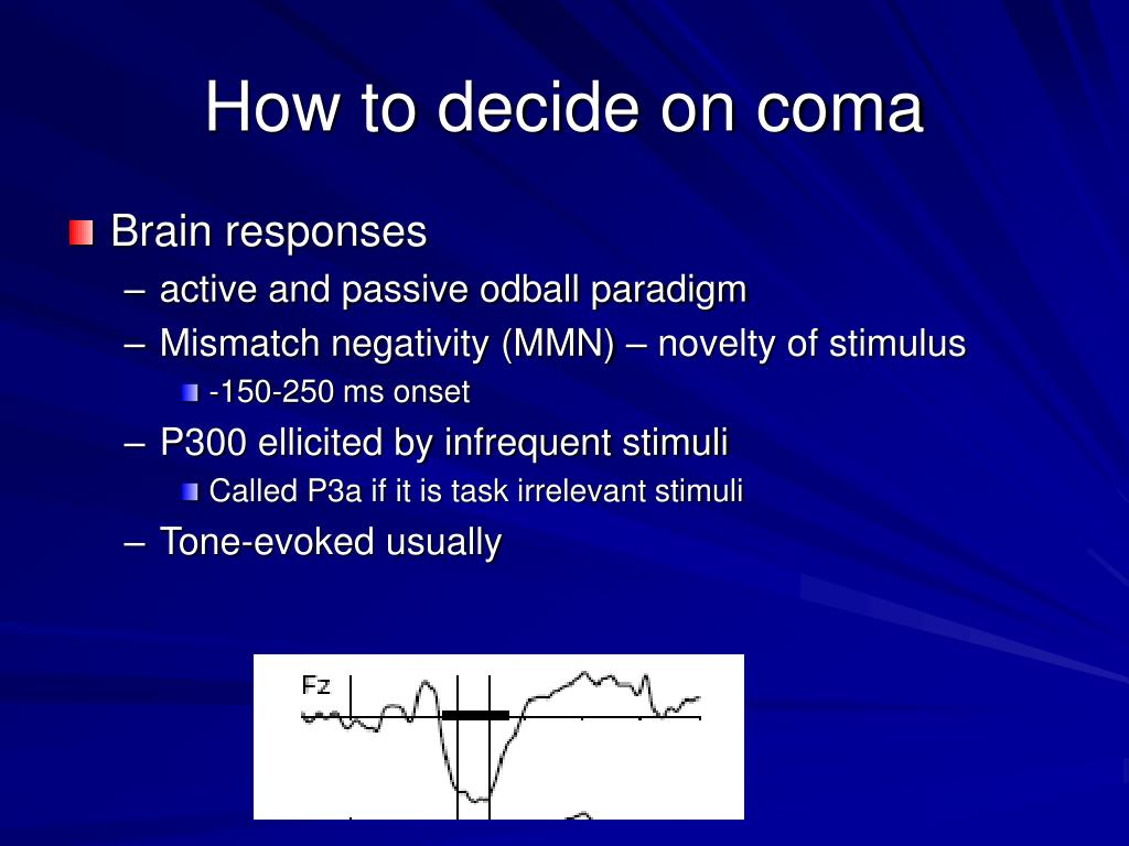 How to decide on coma