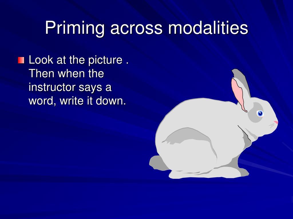 Priming across modalities