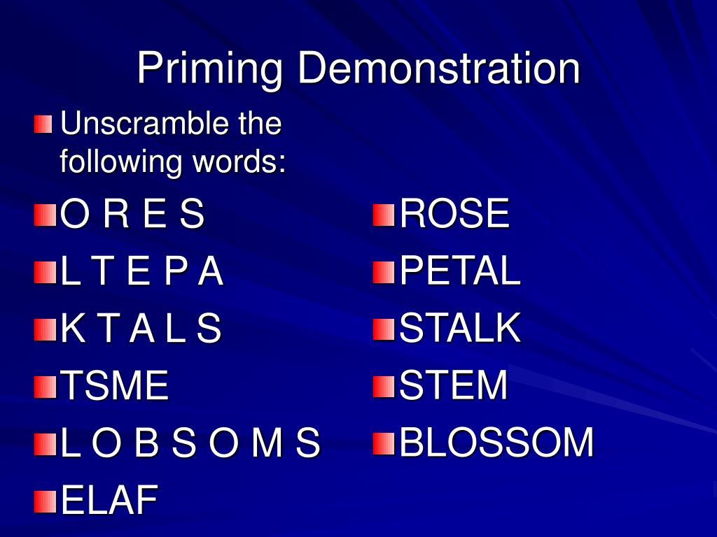 Priming Demonstration