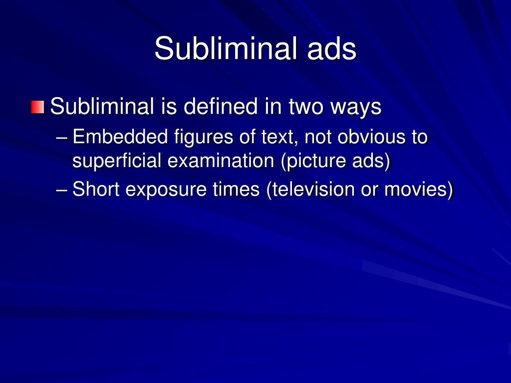 Subliminal ads