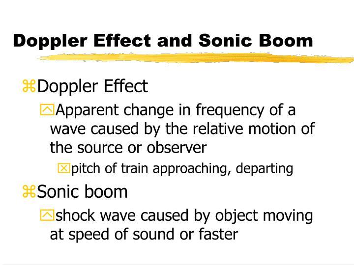 Doppler Effect and Sonic Boom