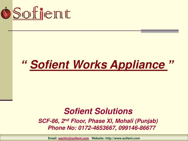 Sofient Solutions