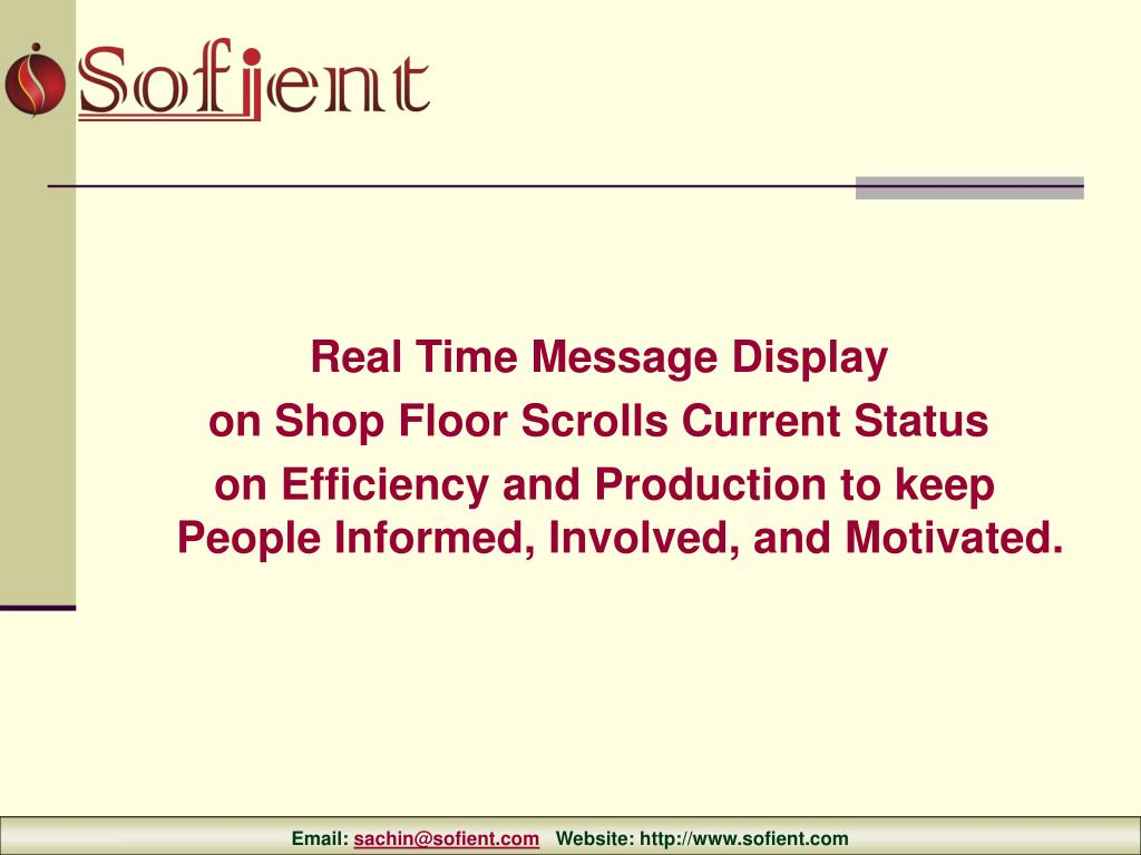 Real Time Message Display