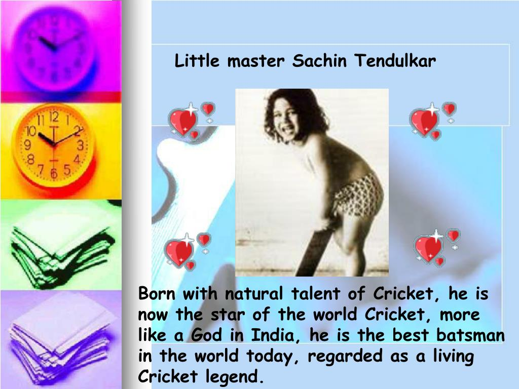 Little master Sachin Tendulkar