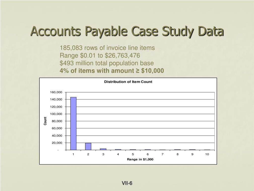 Accounts Payable Case Study Data