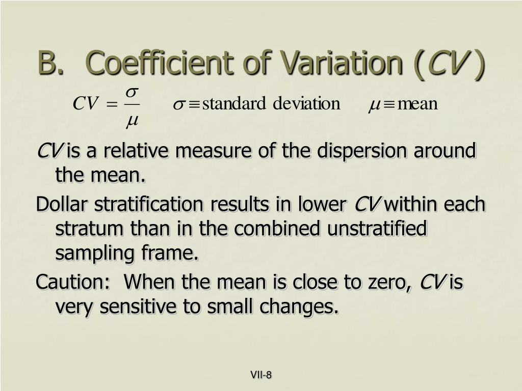B.  Coefficient of Variation (
