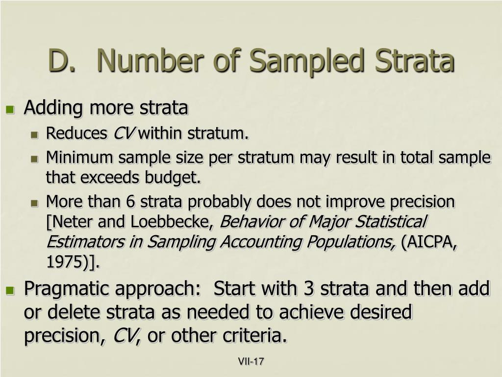 D.  Number of Sampled Strata