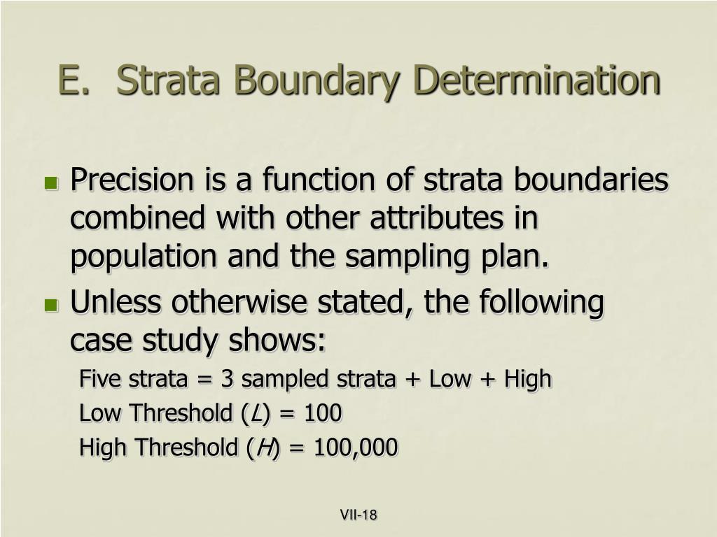 E.  Strata Boundary Determination