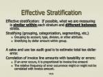 effective stratification
